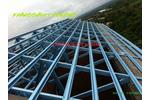 Khung mái nhà thép mạ nhôm kẽm cường độ cao TTTRUSS, nhà thép tiền chế, hệ cửa nhôm kính, kèo...