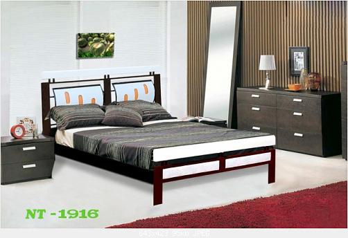 1 Giường sắt giả gỗ giá rẻ