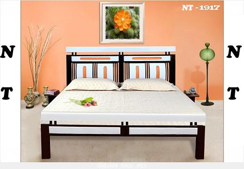 2 Giường sắt giả gỗ giá rẻ