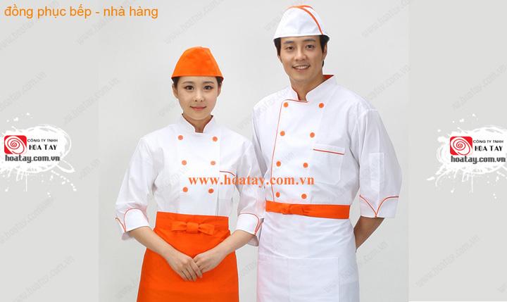 1 Đồng phục bếp, đồng phục đầu bếp, đồng phục nhà bếp. May đồng phục bếp