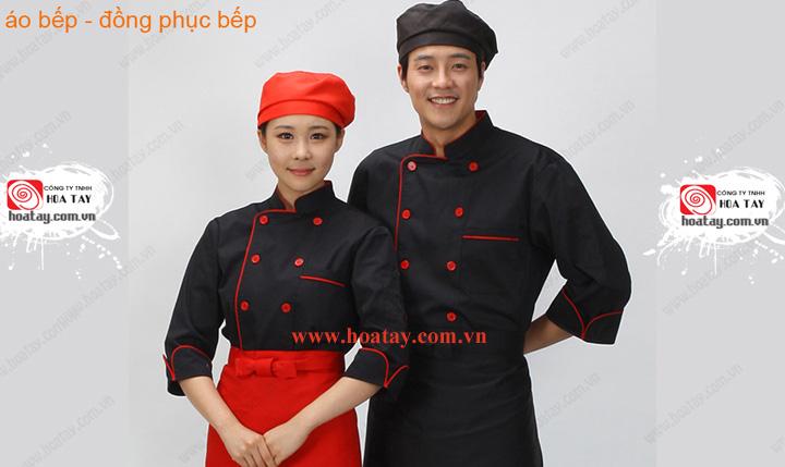 2 Đồng phục bếp, đồng phục đầu bếp, đồng phục nhà bếp. May đồng phục bếp